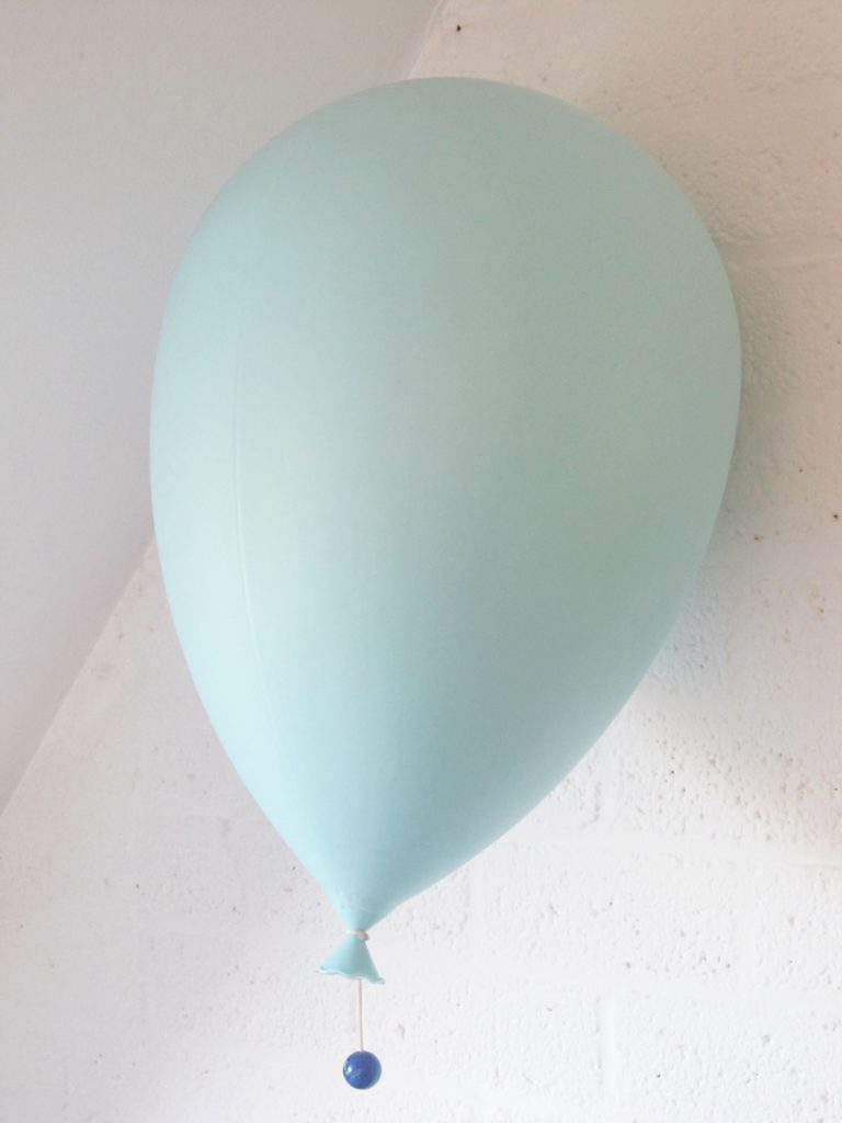 Designed by Yves Christin for Bilumen Blue Balloon wall/ceiling light or Table lamp XL
