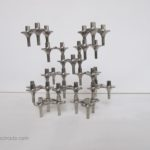 12 BMF orion candle holders, design vintage stackable candle sticks