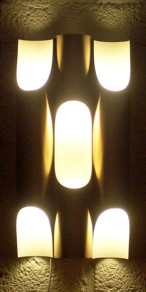 Raak Fuga or Fugue Wall light. Design by Maija Liisa Komulainen for RAAK Holland 1970S light Icon