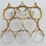 Gaetano Sciolari Mid Century Modern sconce wall lighting, hollywood style modernist wall lamp with 8 bubble glasses.