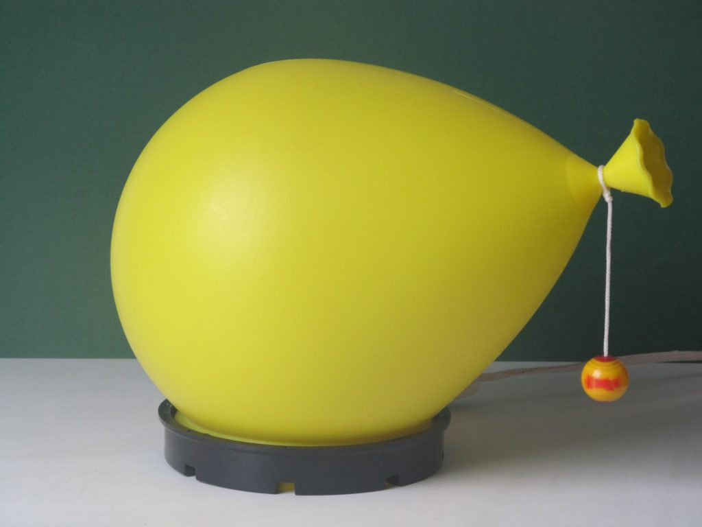 Table or wall balloon lamp designed by Yves Christin, smallest version