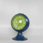 Clocks Blessing two jewels rhythm,Blessing alarm clock, pedestal tulip shape, made in West-Germany. Space age era plastic al clock from the early 1970s