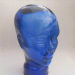blue head headphones holder