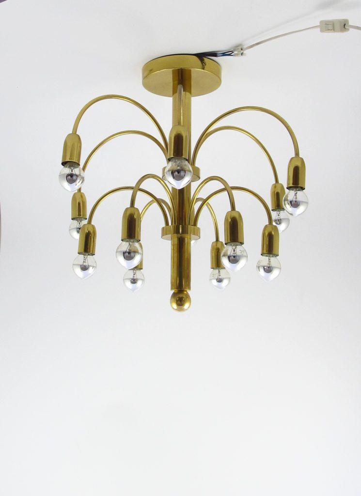 brass messing copper sciolari vertical ceiling lamp