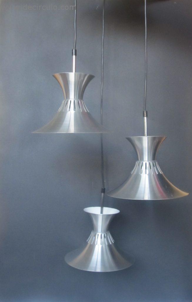 cascade ceiling light aluminum rings