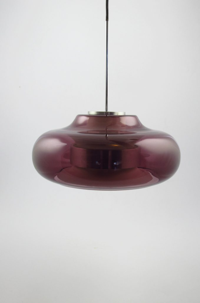 doria purple glass pendant lamp