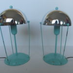 mint green chrome bed lamp