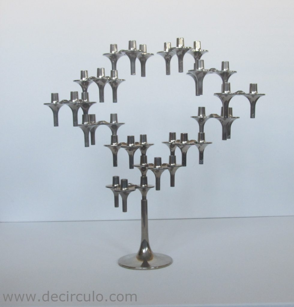 12 Nagel BMF orion candleholders with base, west german bmf candlesticks and base