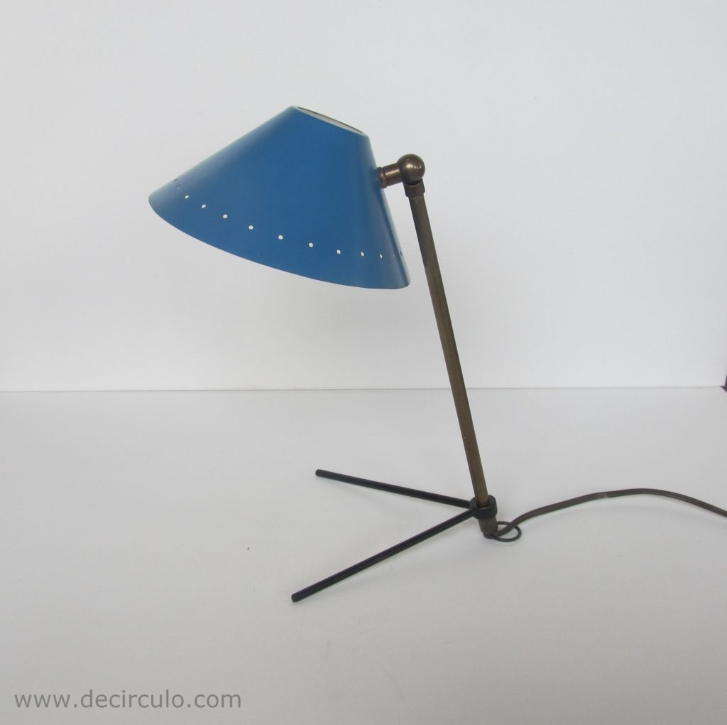 Pinocchio lamp or pinokkio lamp by Busquet minimalist industrial icon from the fifties