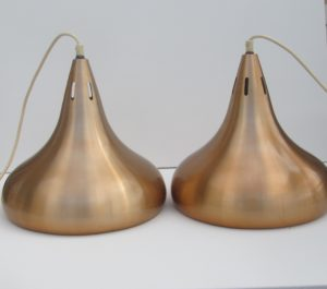 Brushed alumininum copper colored carambole biljart lamps