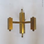 2 Brass wall lights, French or Wallonian sconces 2 pieces