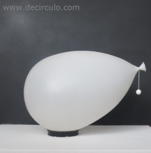 yves christin bilumen large xl white balloon light Italian design