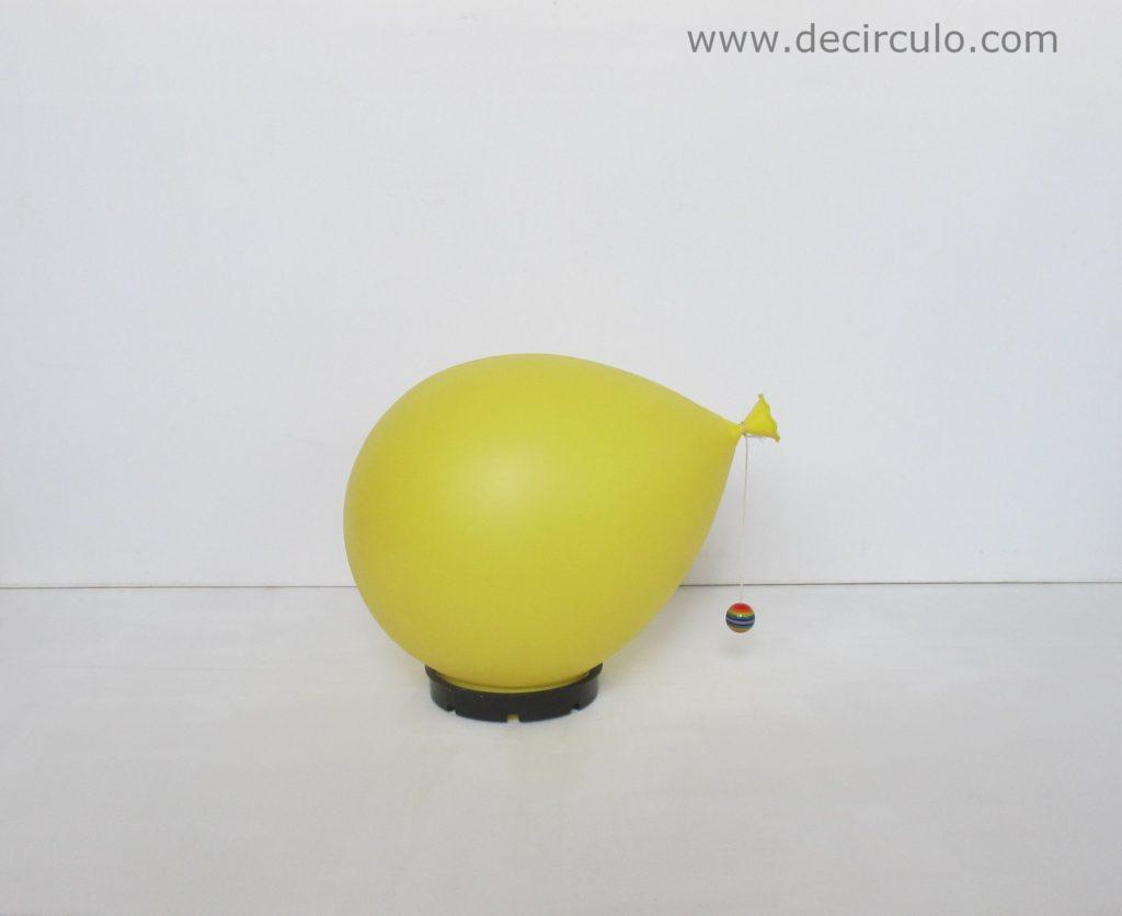 Bilumen balloonlamp Yves Christin yellow with rainbow ball