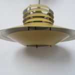 aluminium retro yellow ochre vintage hanging light