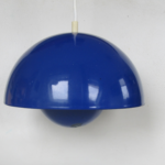 flower pot verner panton blue celing lamp