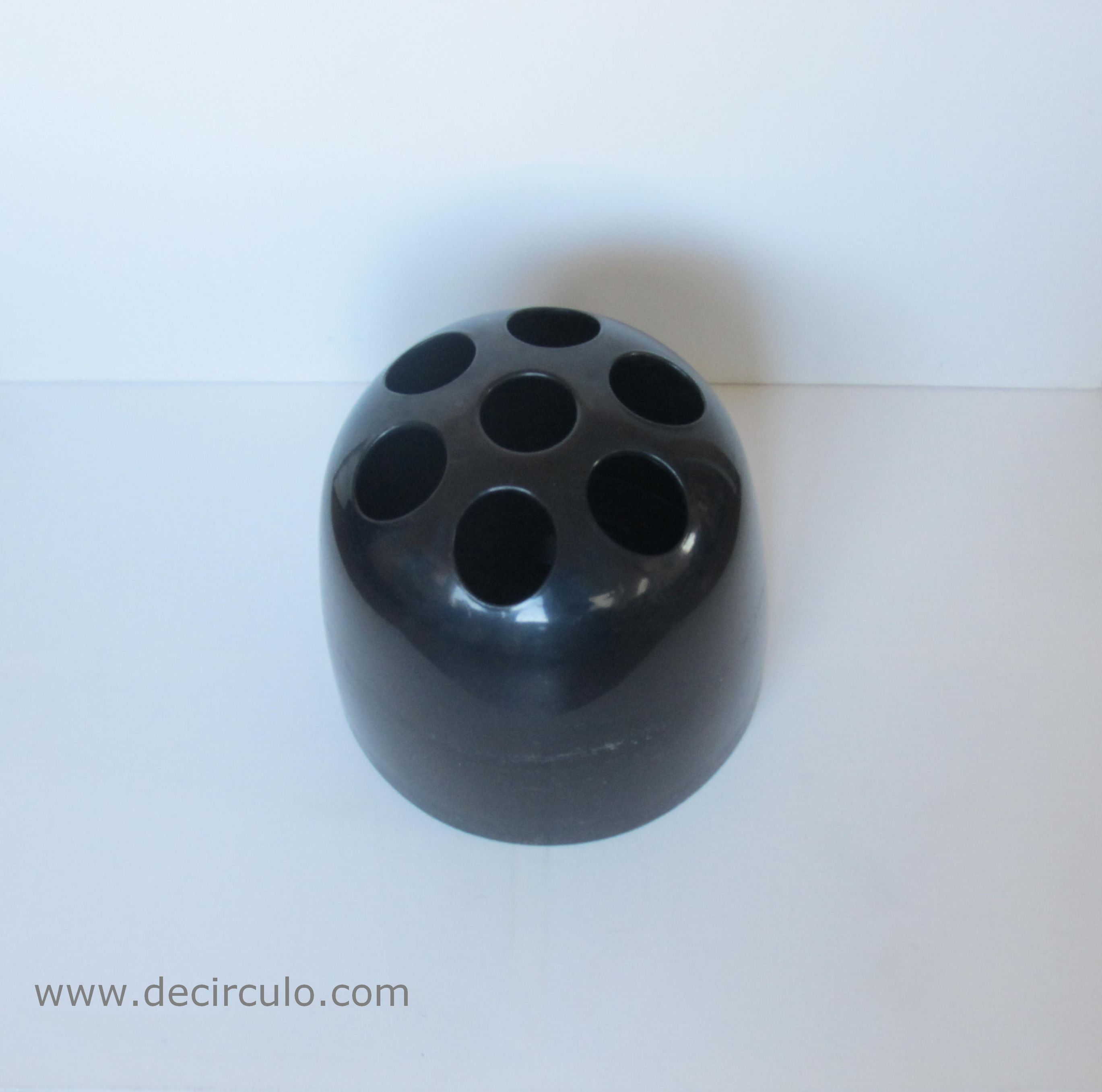 Dedalo Black Artemide Umbrella Stand 01