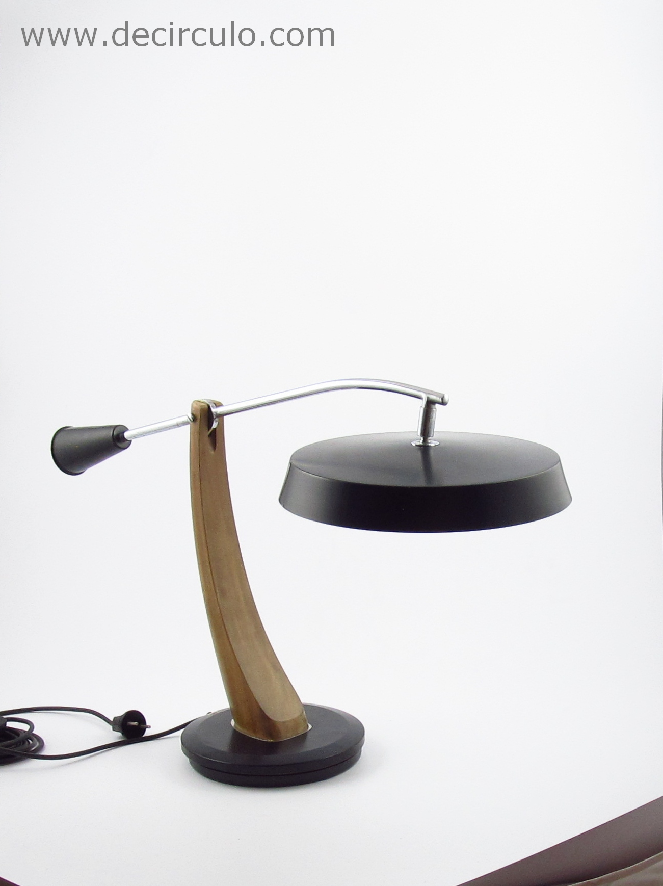 Fase President Table Lamp Black Metallamp
