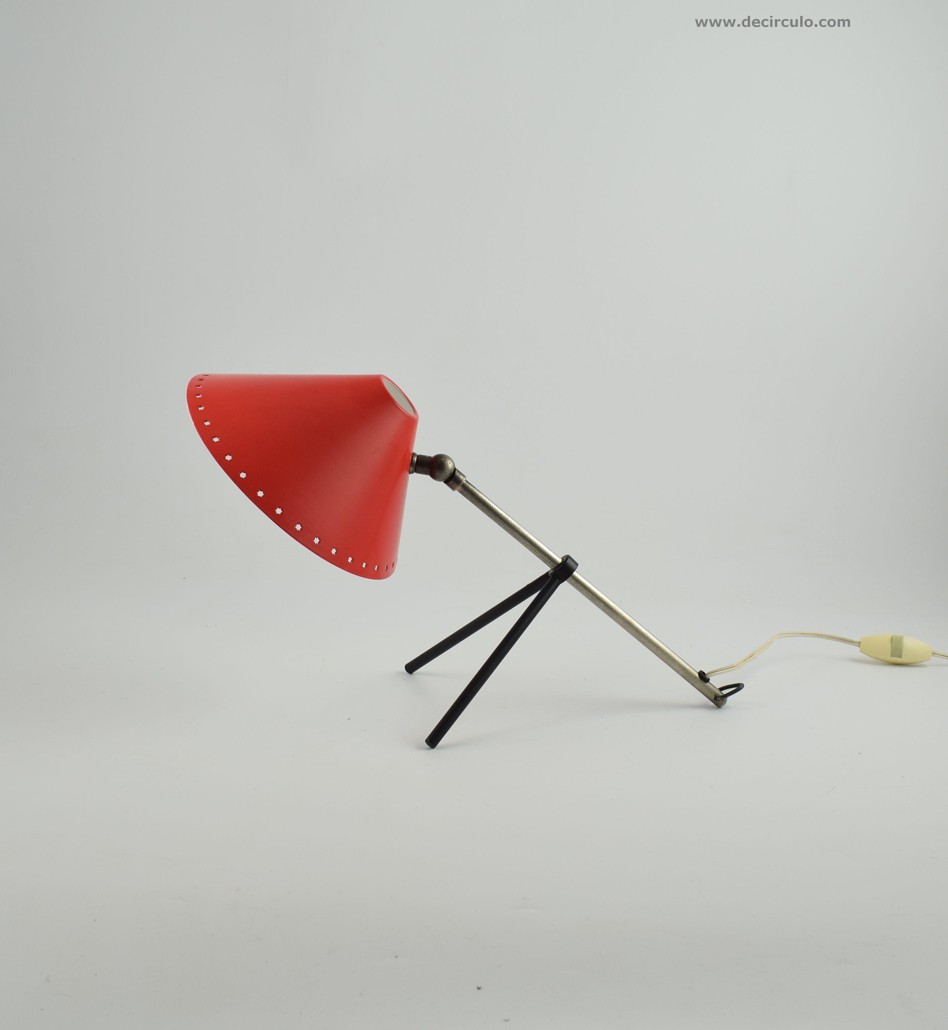 Pinocchio Lamp Red H.Busquet Hala Minimalist