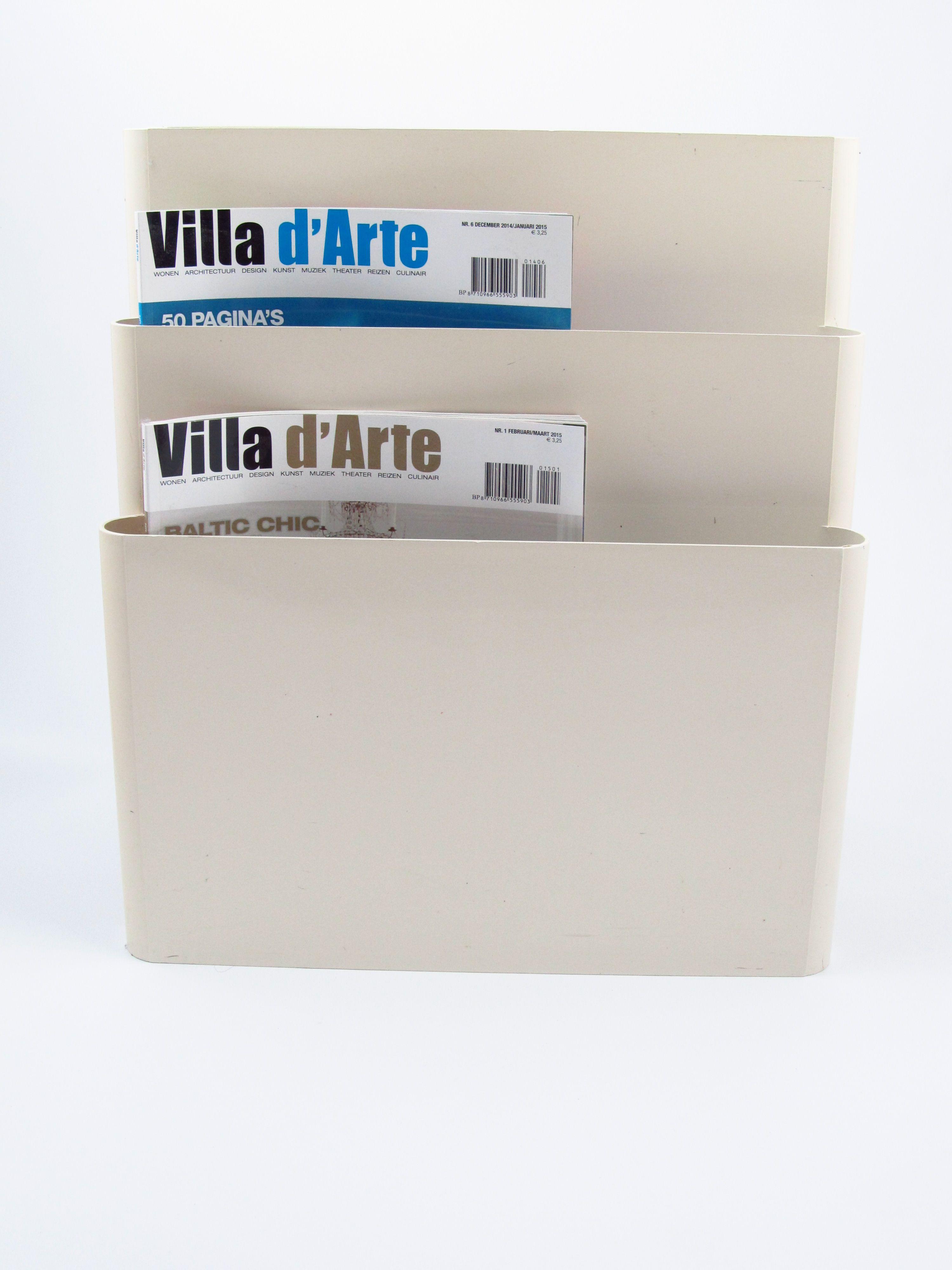 Kartell White Magazine Rack Artemide