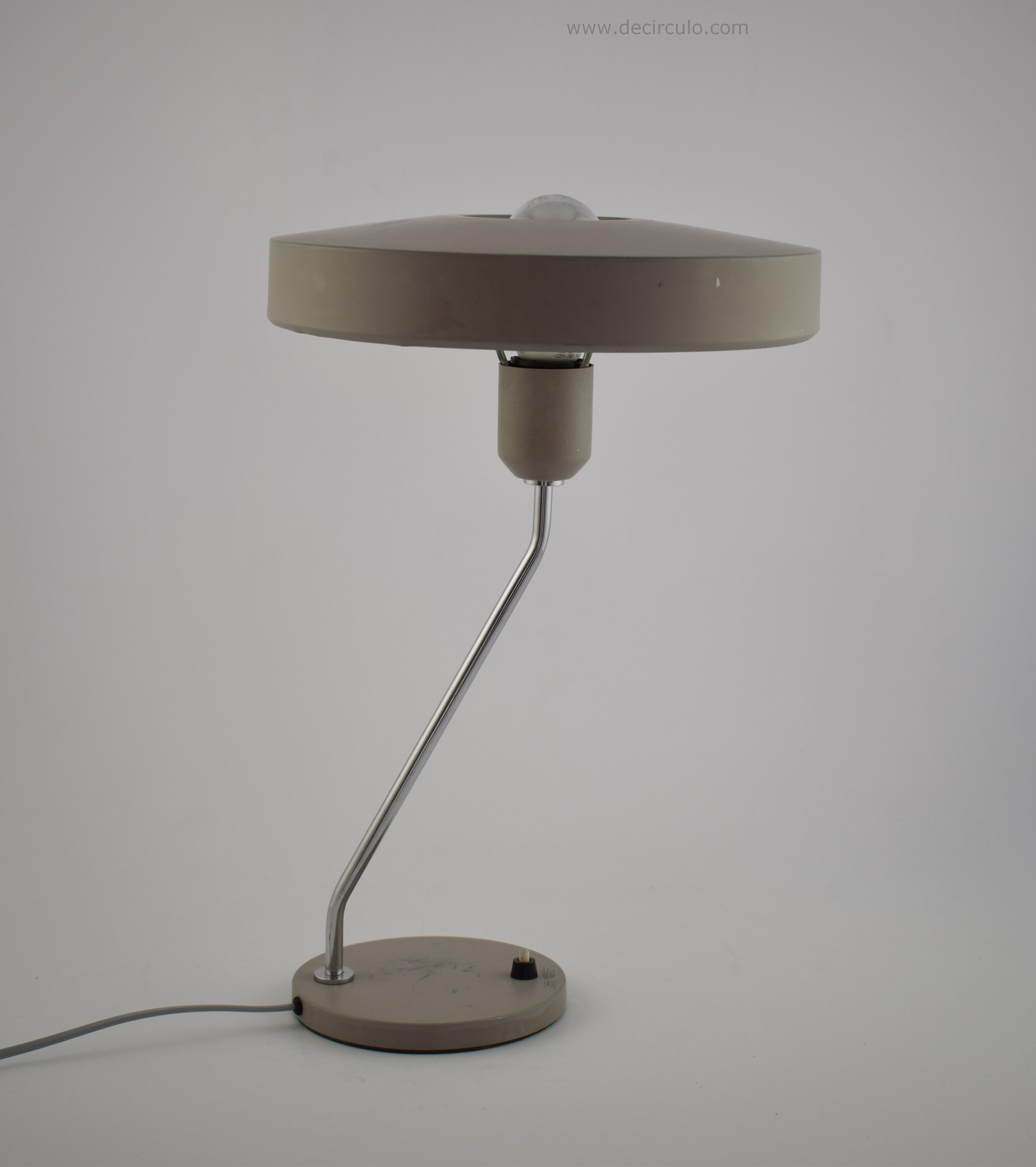 Louis Kalff Grey Industrial Philips Tablelamp