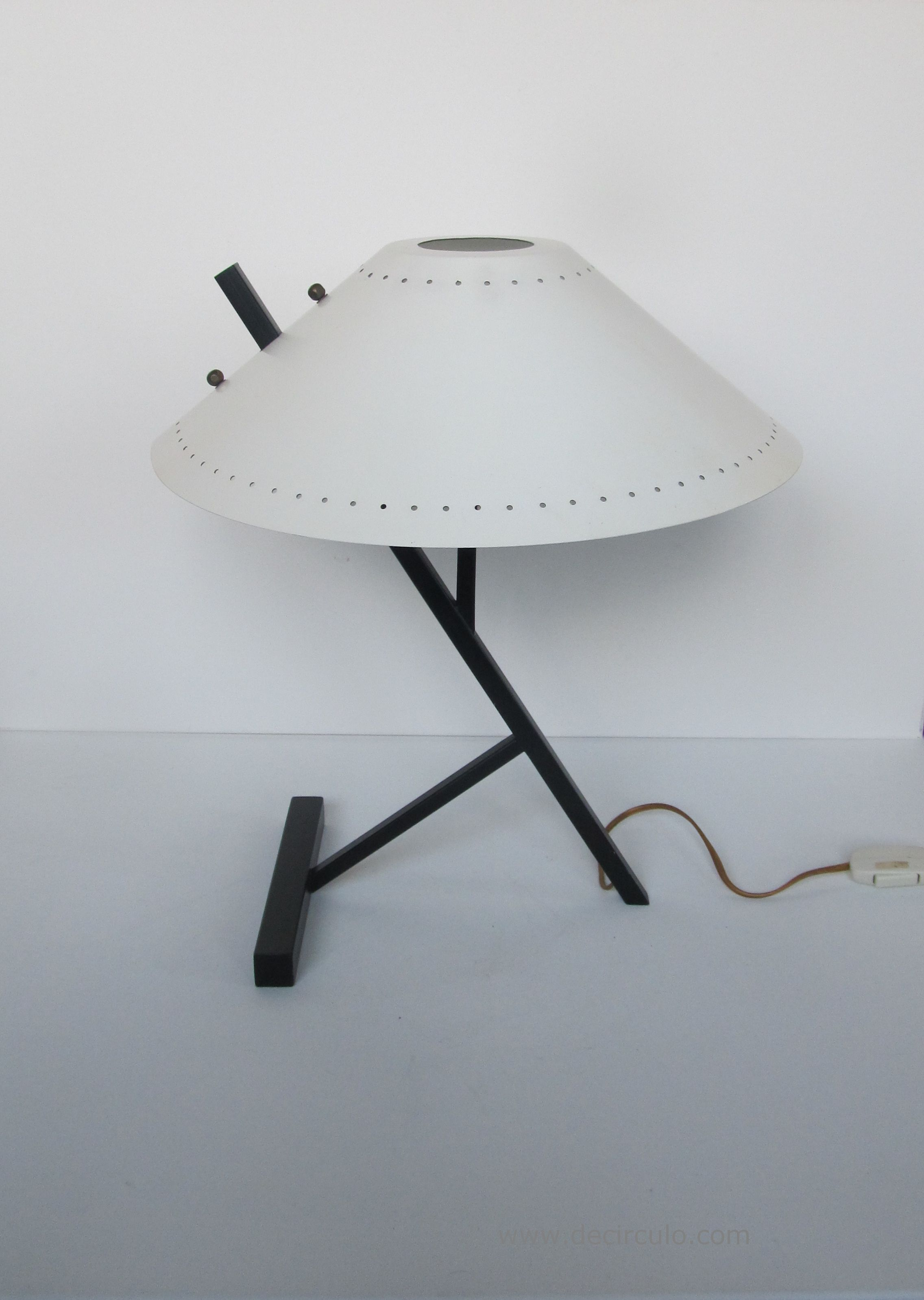 Louis Kalff White Desk Lamp