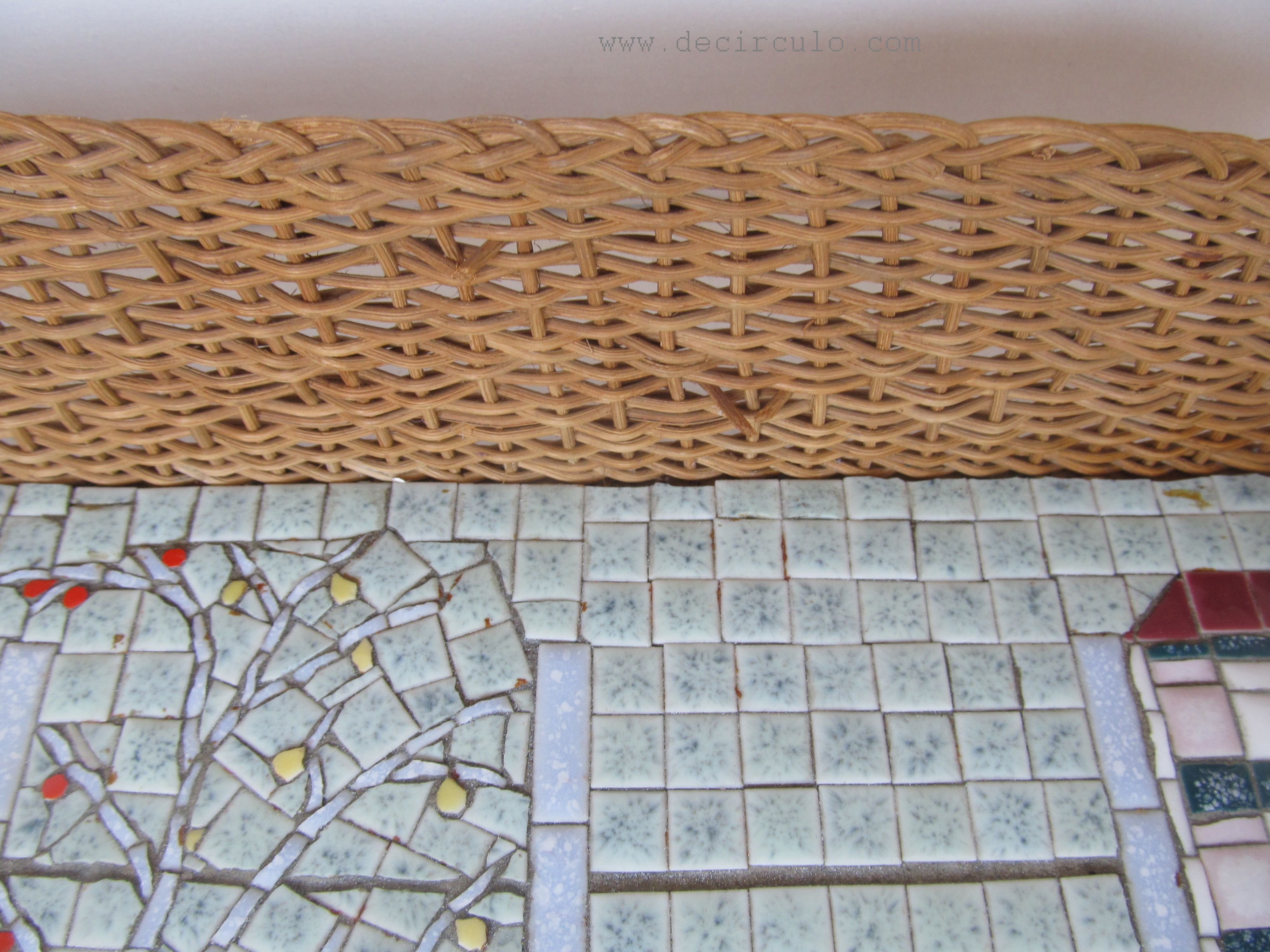 Mosaic Tray Spanish Vintage Retro