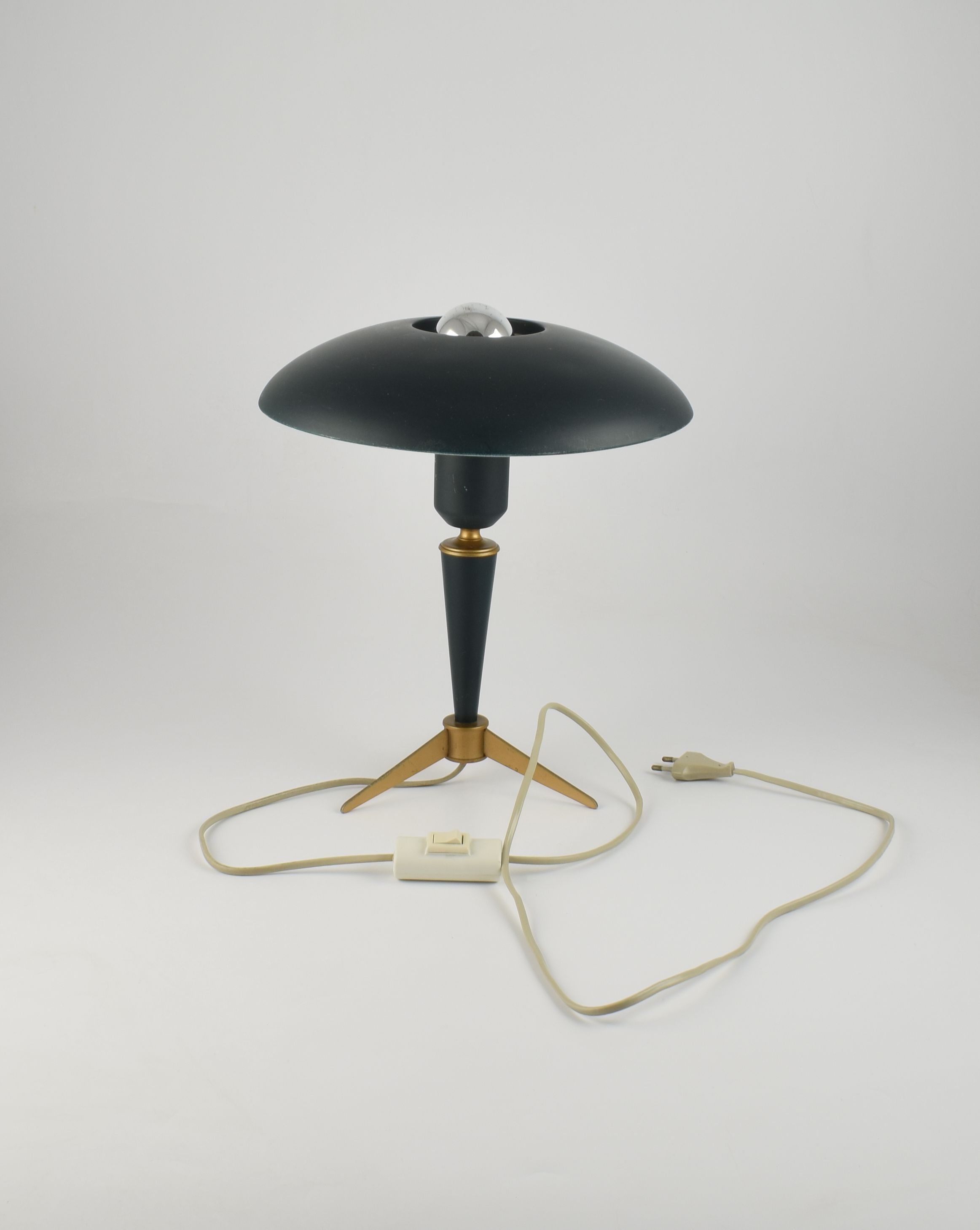 Philips Kalff Olive Green Tripod Desk Lamp