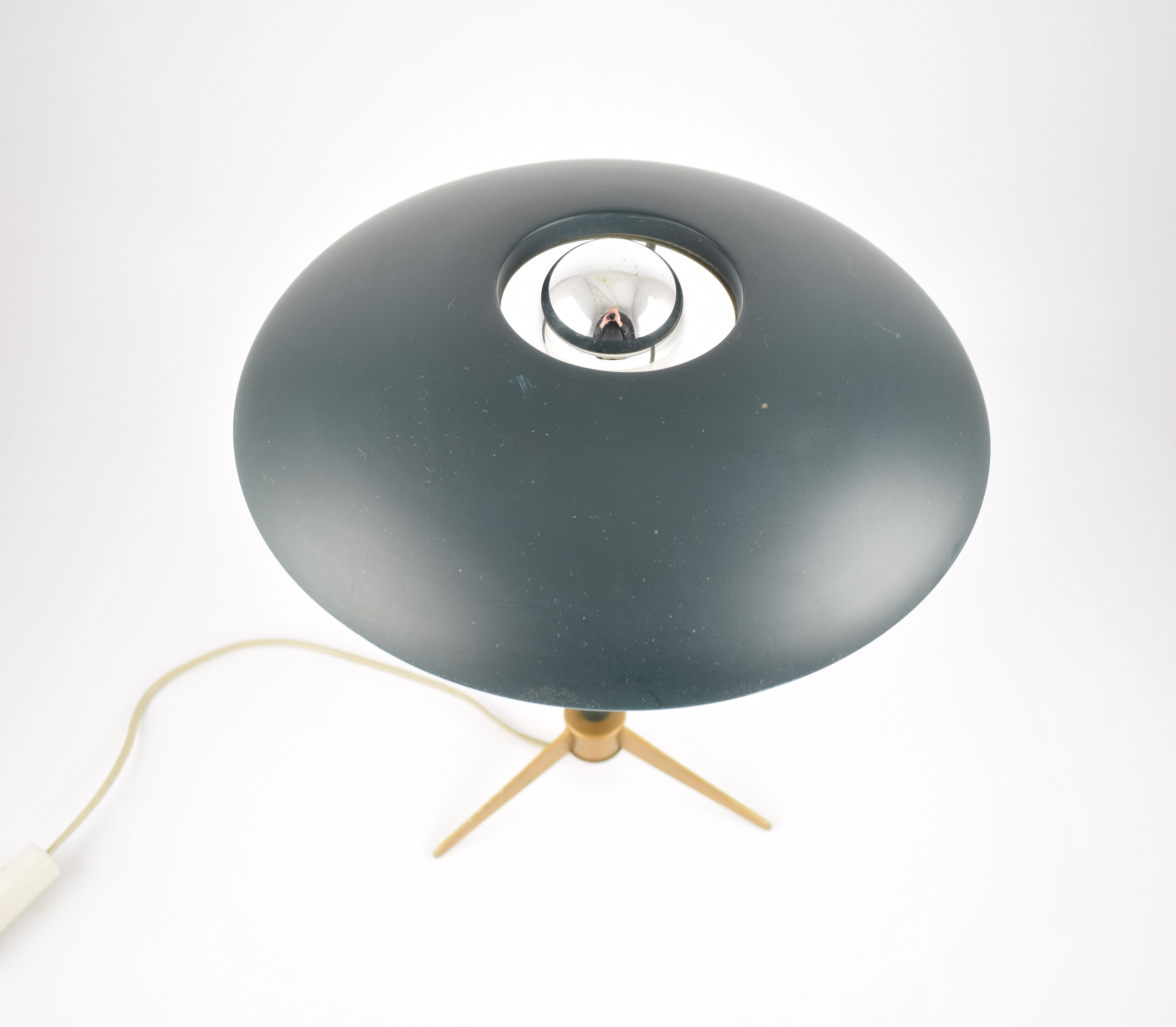 Philips Kalff Olive Green Tripod Table Lamp