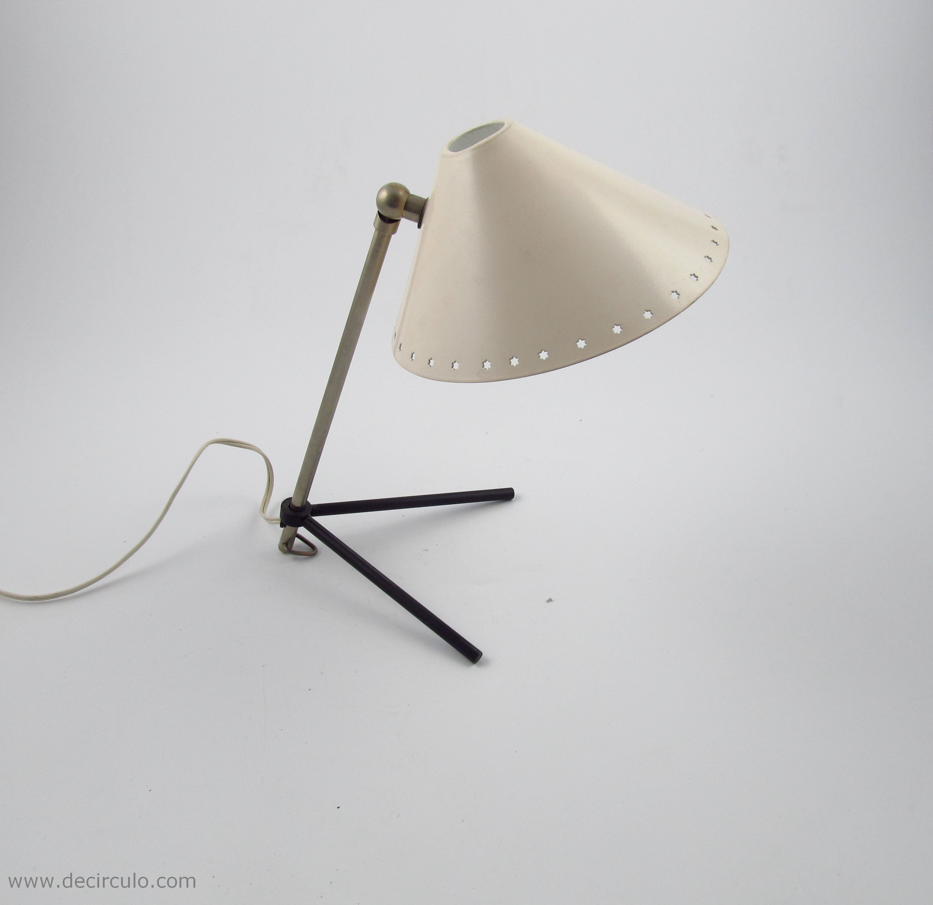 Pinocchio Pinokio White Busquet Hala Industrial Table Lamp