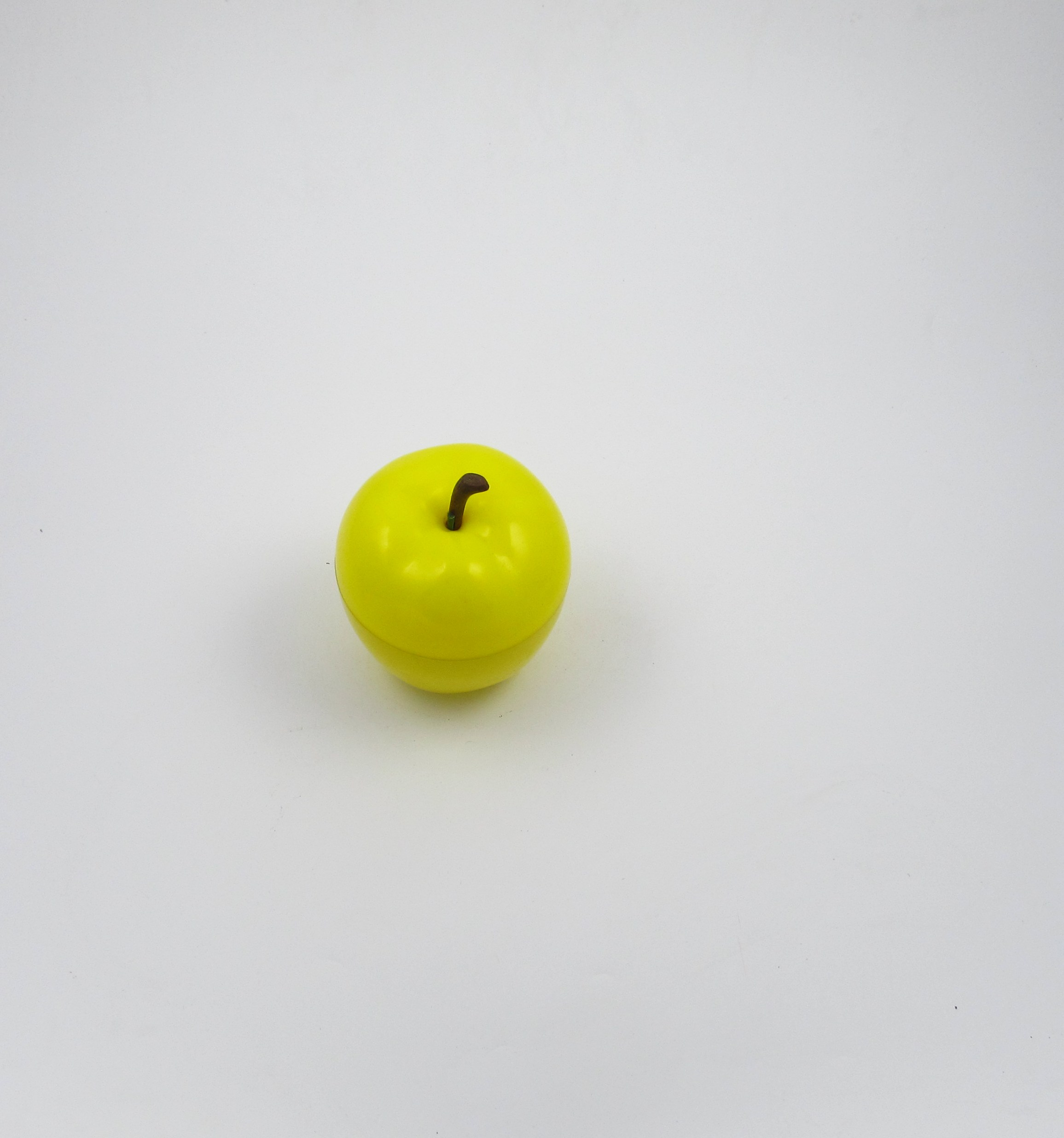 Plastic Green Yellow Apple Ice Bucket