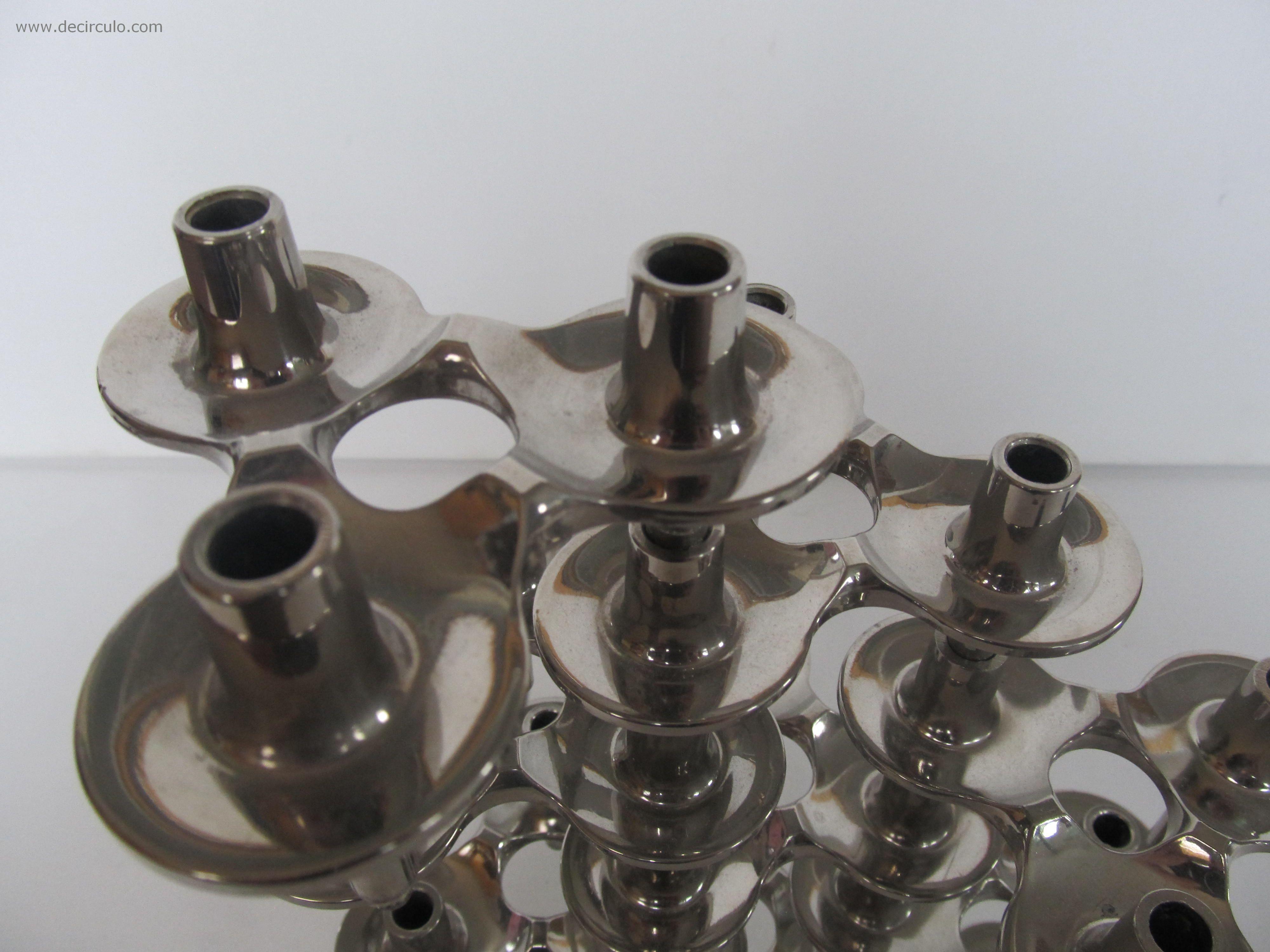 West Germany Nagel Orion Bmf Metal Candlesticks